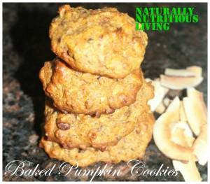 Baked pumpkin cookies