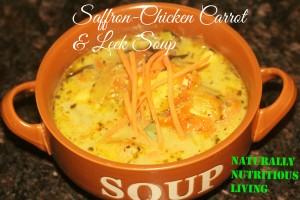 Saffron chicken soup