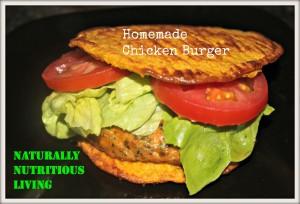 Homemade chicken burger 1