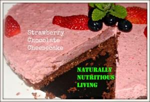 Strawberry choc cheesecake