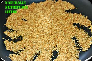 Sesame seeds toasted