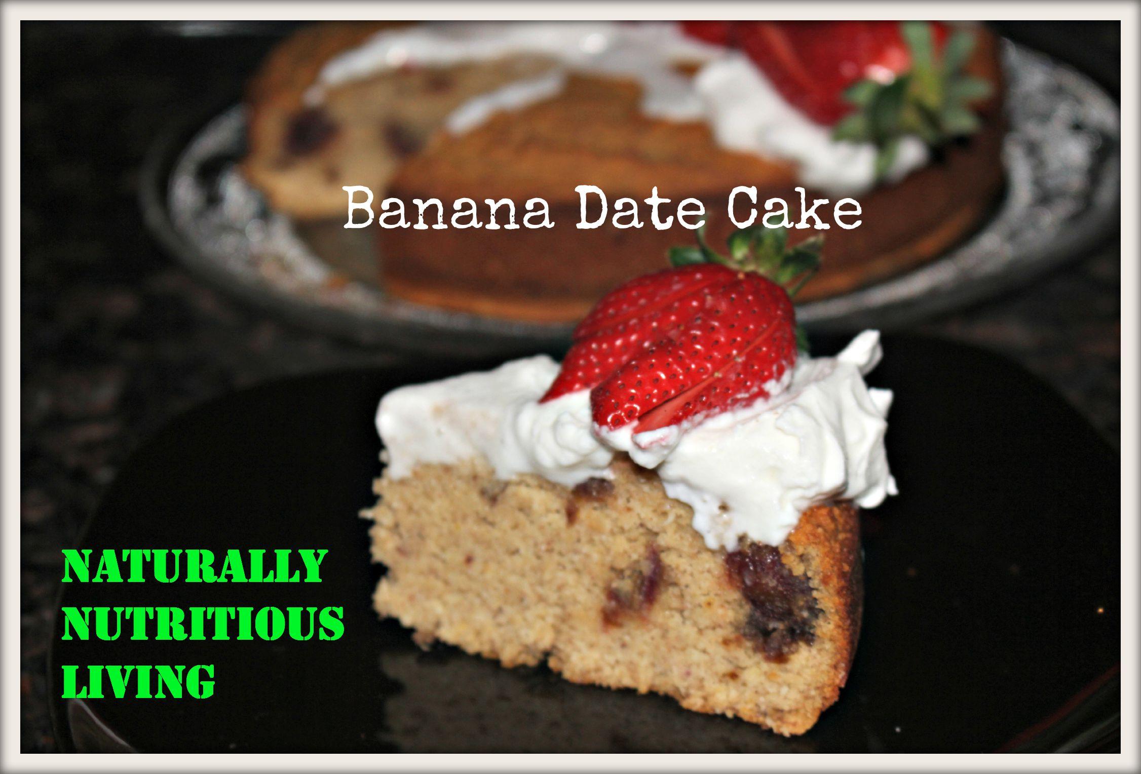 Banana and Date Cake [Paleo, Dairy free, Gluten free, Grains free ...