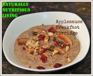 Applesauce Breakfast Porridge