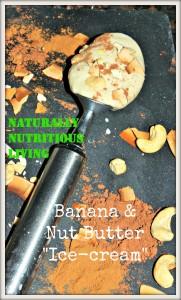 Nut butter ice cream